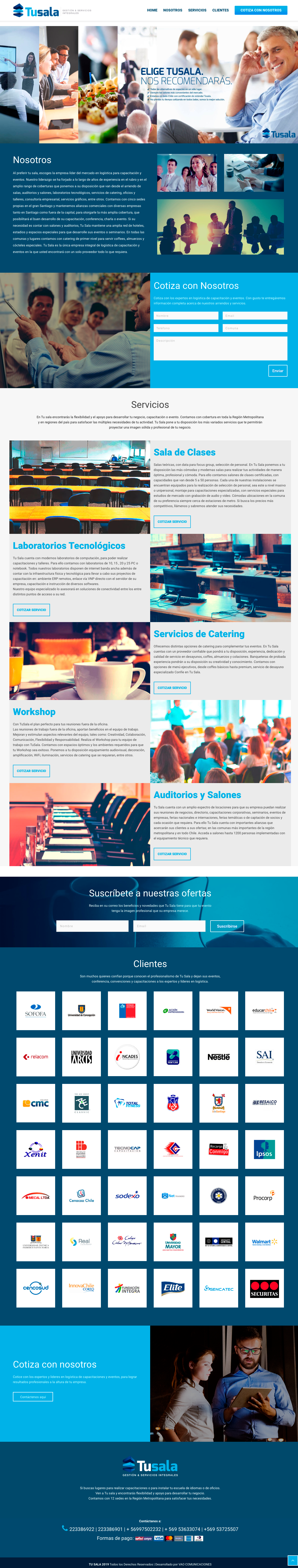 VAO comunicaciones Tu Sala sitio web