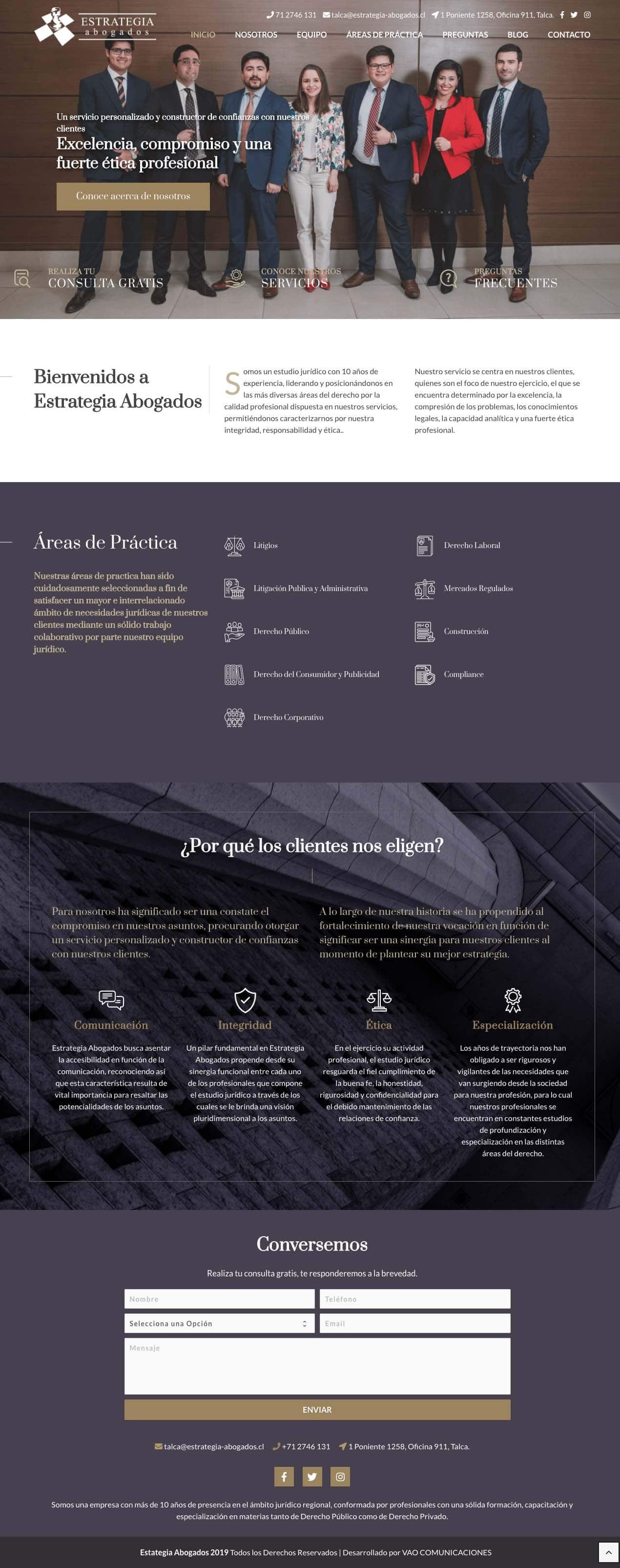 estrategia abogados sitio web - VAO Comunicaciones