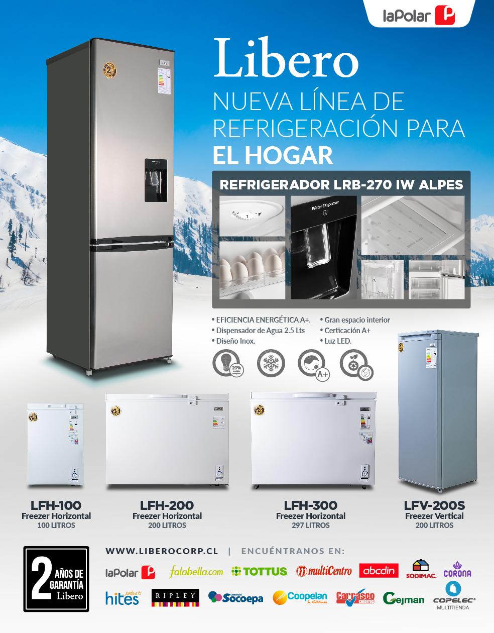 Libero- nueva linea de refrigeración para el hogar