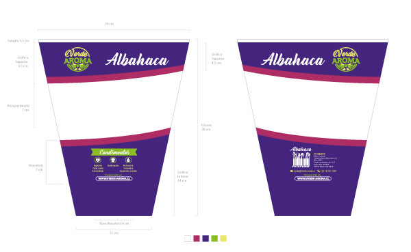 envase albahaca Verde Aroma