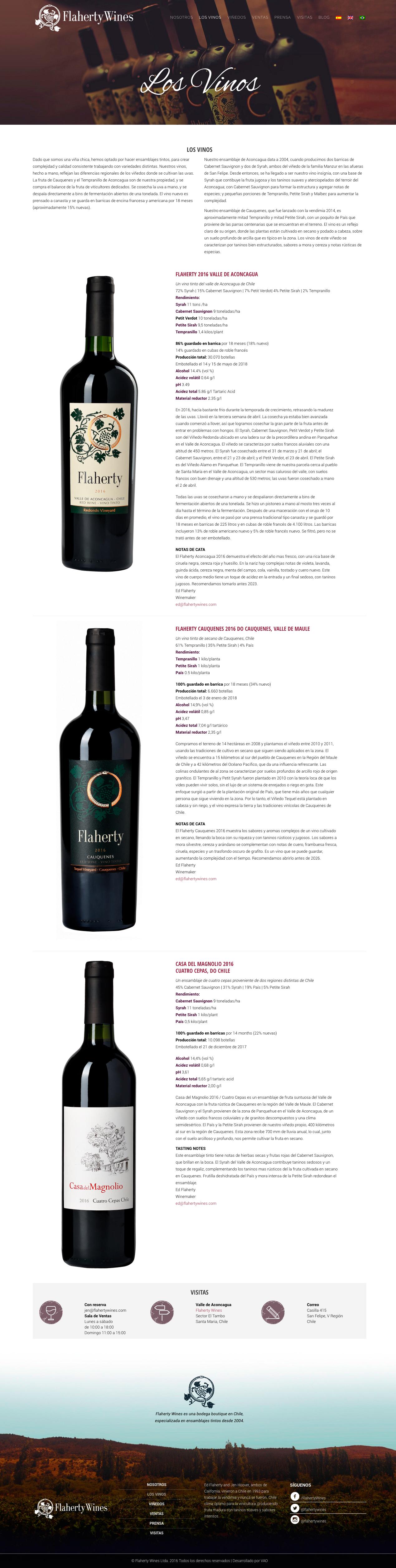 flaherty wines web vinos