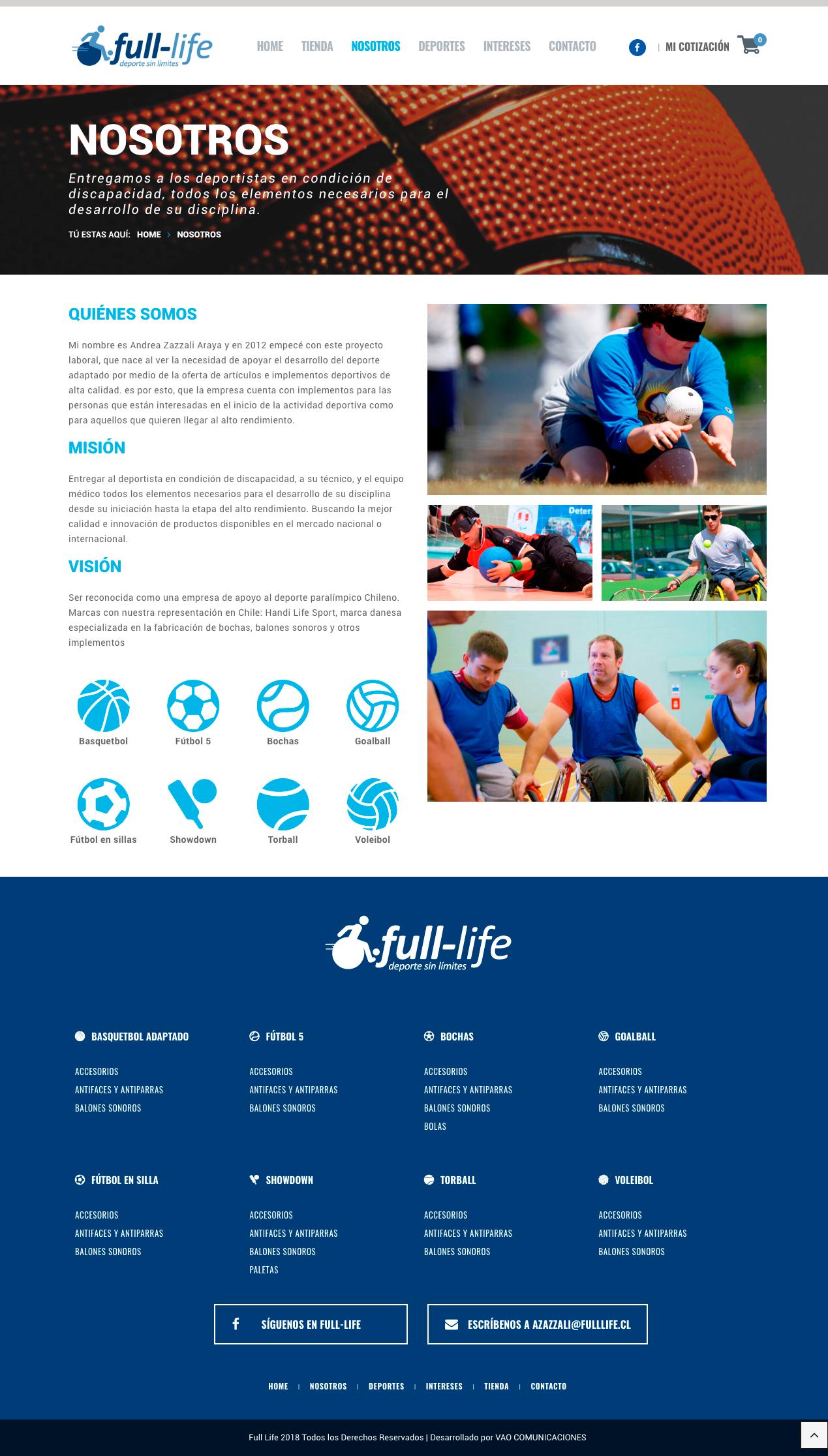 fulllife web nosotros