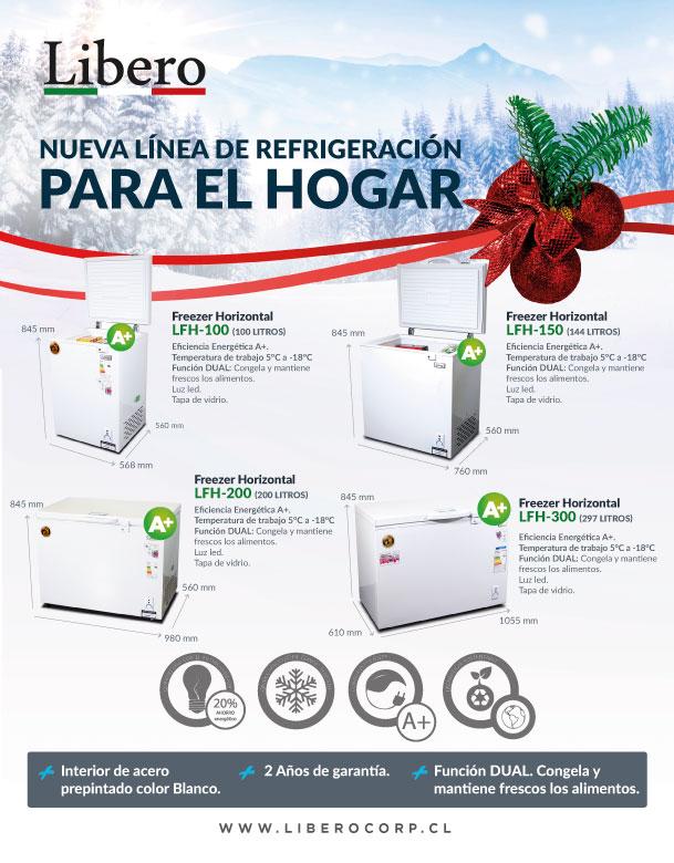 libero nueva linea de refrigeracion para el hogar navidad