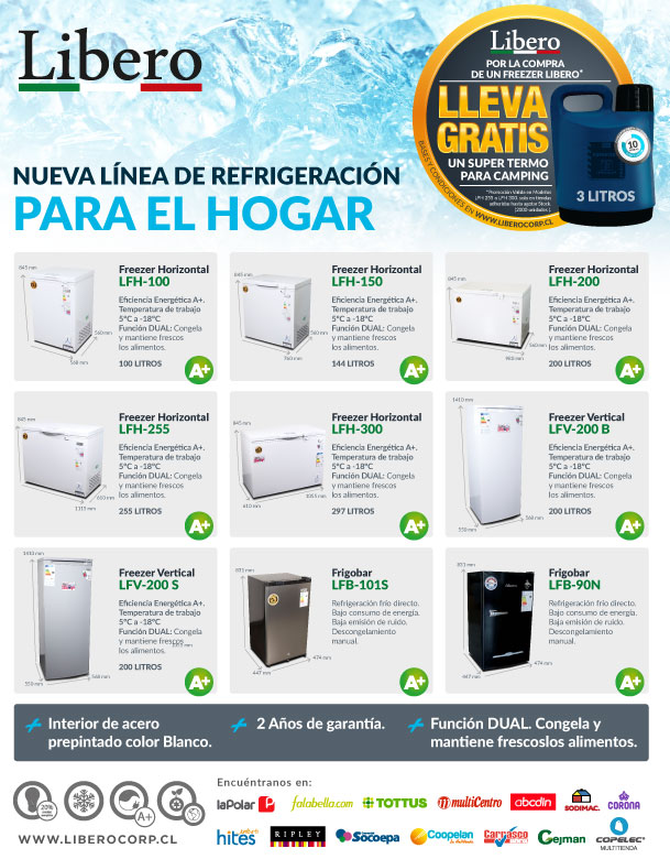 libero refrigeracion para el hogar