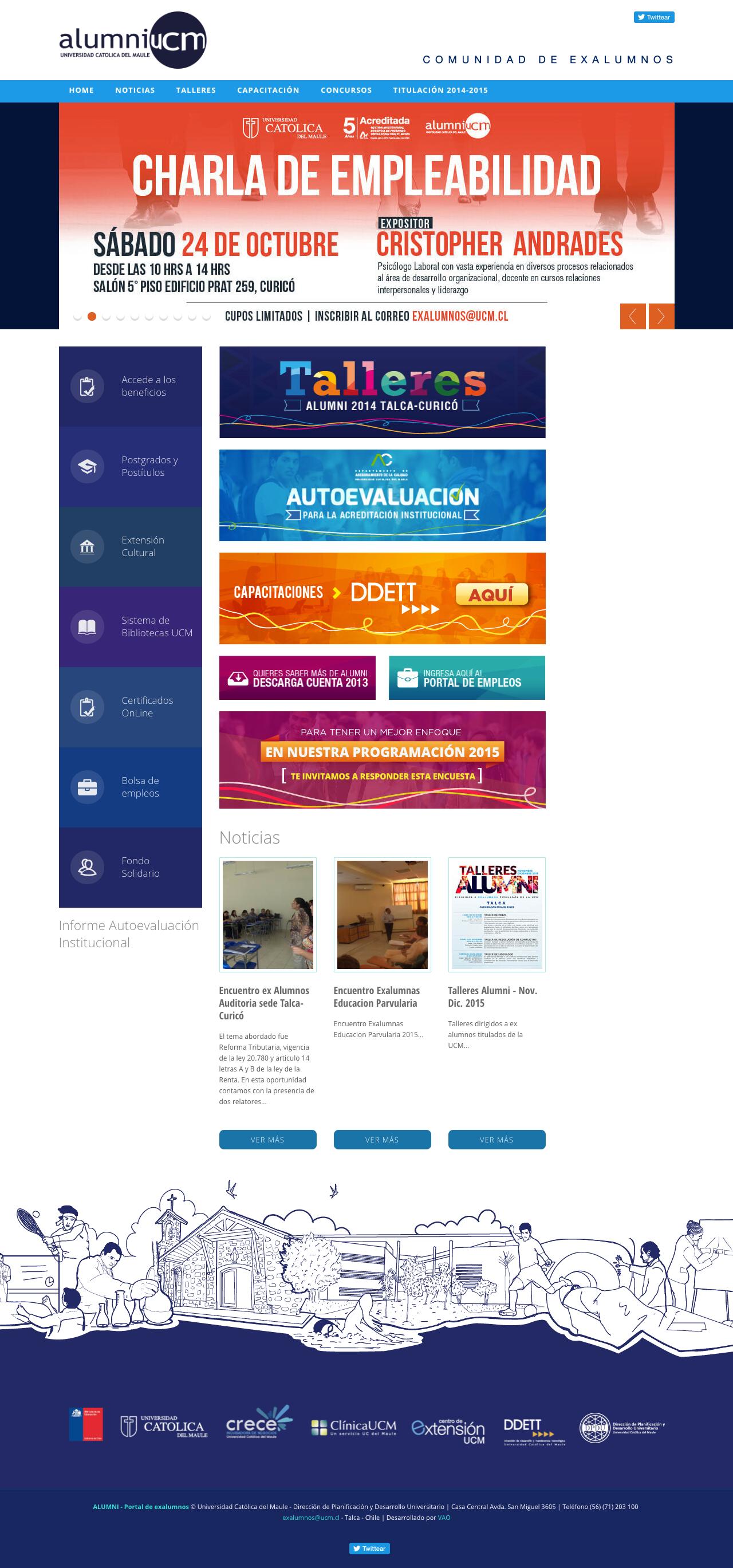 alumni UCM web