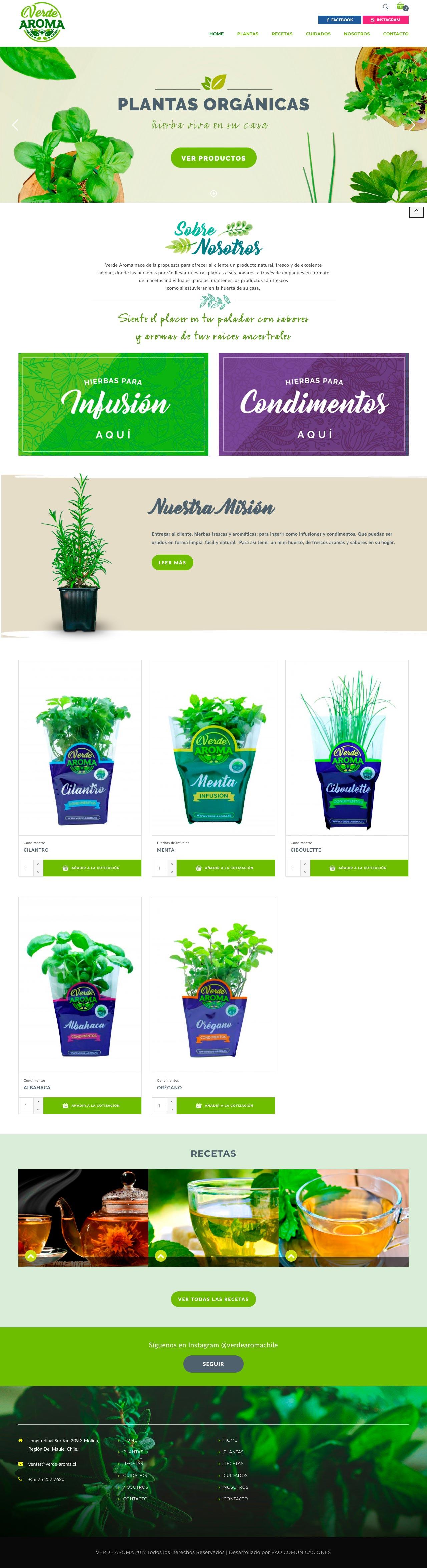 verde aroma web