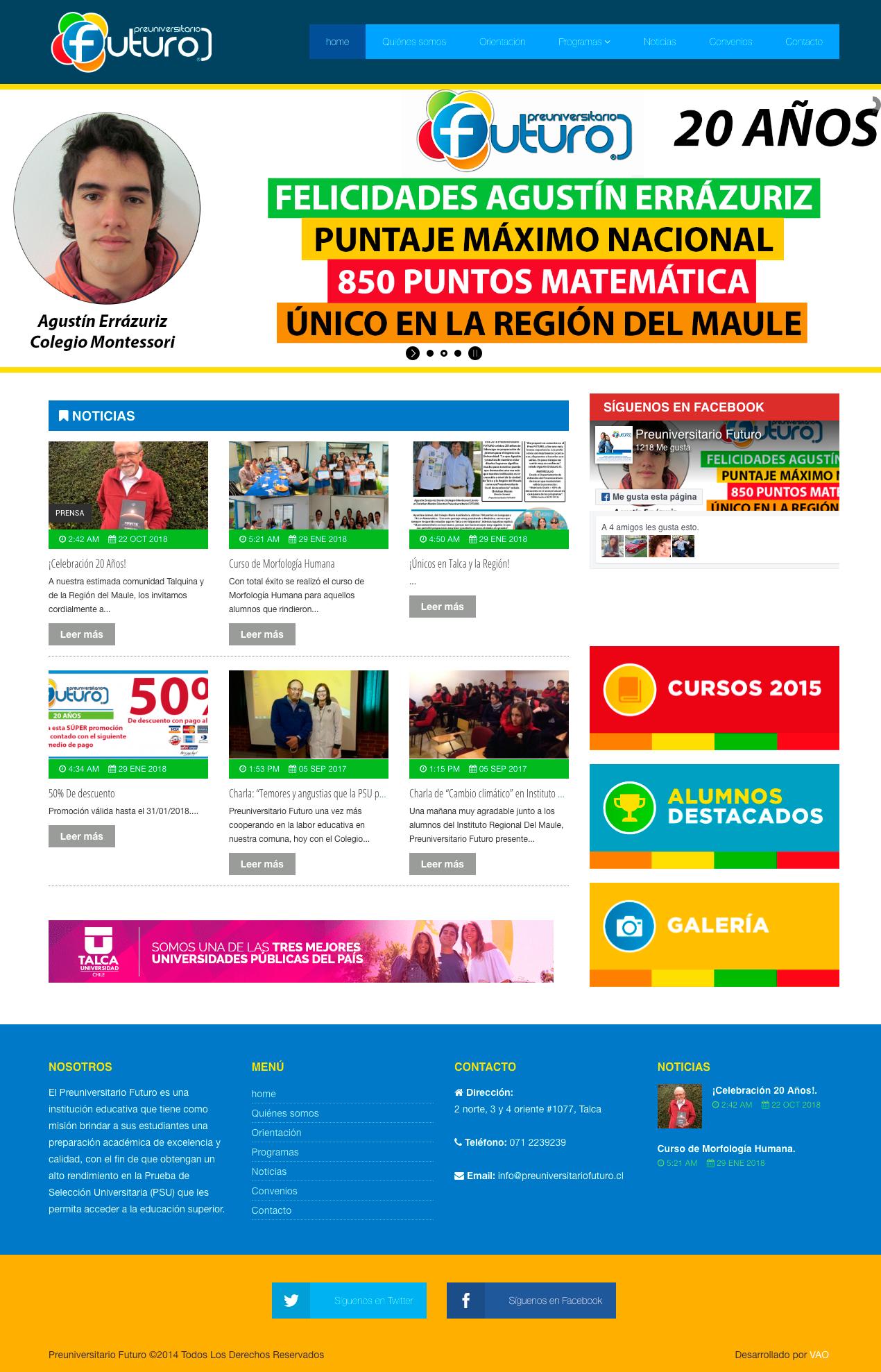 preuniversitario futuro web