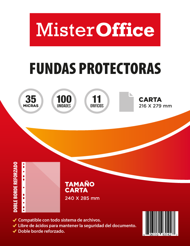 fundas protectoras mister office carta