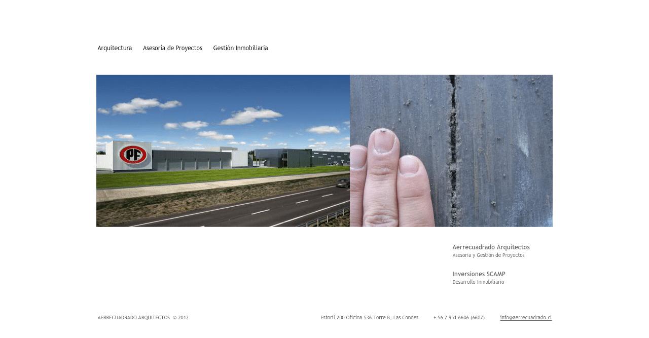 Aerrecuadrado Arquitectos web